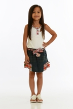 Baby Sara Denim Skirt Dress for Girls with Ruffles