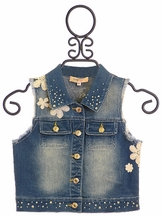 Baby Sara Denim Vest for Girls Happy Blues