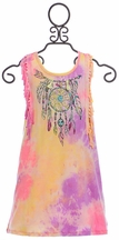 Baby Sara Dreamcatcher Tie Dye Dress with Fringe (Size 12Mos)