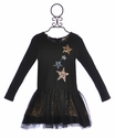 Baby Sara Girls Black Dress with Stars