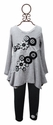 Baby Sara Girls Grey Floral Tunic with Legging