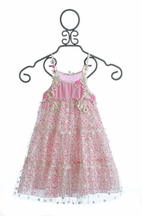 Baby Sara Girls Pink Party Dress (12Mos,24Mos,6X)