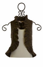 Baby Sara Girls Sweater Vest with Leopard Flowers