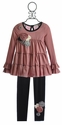 Baby Sara Girls Tunic and Legging in Rose Dot