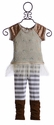 Baby Sara Girls Tunic with Tulle and Matching Pants