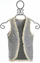Baby Sara Girls Vest with Fringe Trim