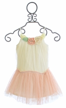 Baby Sara Girls Vintage Tulle Dress with Flowers