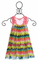 Baby Sara Infant and Toddler Dress in Chevron (12Mos & 2T)