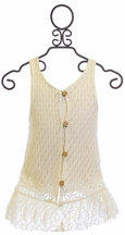 Baby Sara Lace Button Down Vest