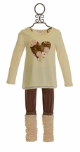 Baby Sara Leopard Heart Tunic Set