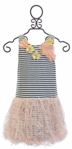 Baby Sara Little Girls Dress in Peach