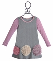 Baby Sara Little Girls Dress Pink Stripe