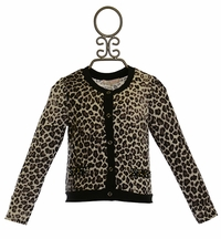Baby Sara Little Girls Leopard Cardigan (12Mos,4,6,6X)