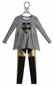 Baby Sara Little Girls Sequin Heart Tunic with Pants