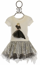 Baby Sara Miss America Tee and Tulle Skirt Set