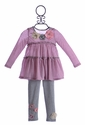 Baby Sara Pink and Gray Striped Tunic with Pants