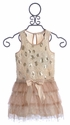 Baby Sara Pretty Dress with Dotted Sequins