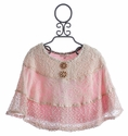 Baby Sara Pink Girls Lace Cape In The Spotlight