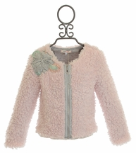 Baby Sara Pink Jacket in Faux Fur (18Mos,2T,4,5,6)