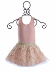 Baby Sara Pink Tank and Flower Skirt Set for Girls (Size 6X)