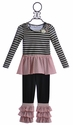 Baby Sara Polka Dot Pink and Black Tunic and Pant