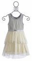 Baby Sara Silver Icing Dress for Little Girls (12 Mos, 2T & 5)