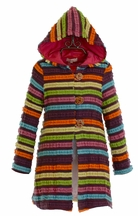 Baby Sara Striped Long Jacket for Girls
