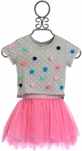Baby Sara Tulle Skirt and Polka Dot Top (12Mos,18Mos,24Mos,2T)