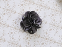 Bari Lynn Dark Grey Feel Good Flower Clip
