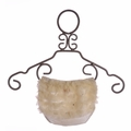 Bari Lynn Ivory Crystallized and Ruffled Diaper Cover