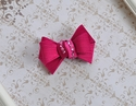 Bari Lynn Party Bow Clip in Fuchsia Satin