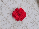 Bari Lynn Red Feel Good Flower Clip