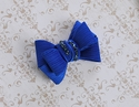Bari Lynn Structured Blue Bow Clip with Crystals