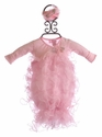 Bebemonde Infant Take Home Gown Pink Organza Ruffles