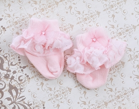Louisiana Designer Baby Clothes Rose Garden Baby Socks