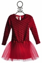 Bebemonde Red Holiday Chenille Drop Waist Dress