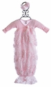 Bebemonde Ribbon Sequins Pink Baby Girls Gown