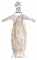 Bebemonde Sparkling Cream Newborn Gown for Girls