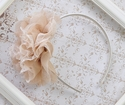 Bella Reese Girls Flower Headband Champagne Lace