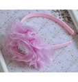 Bella Reese Pink Lace Girls Flower Headband