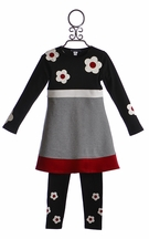 Biscotti Back to School Outfit with Flowers (Size 18Mos)