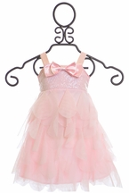 Biscotti Birthday Girl Pink Dress with Sequins