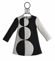 Biscotti Black and Ivory Toddler Dress (Size 24 Mos)