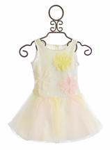 Biscotti Chic Confection Dress for Girls with Tutu Skirt (12Mos & 2T)