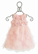 Biscotti Creme De La Creme Pink Ruffle Dress with Flowers (Size 2T)
