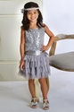 Biscotti Deck the Halls Girls Dress in Silver