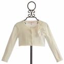 Biscotti Falling in Love Sweater with Corsage in Ivory