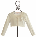 Biscotti Falling in Love Sweater with Corsage in Ivory (12 Mos & 18 Mos)