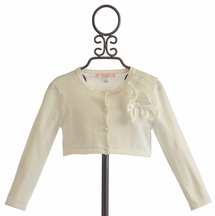 Biscotti Falling in Love Sweater with Corsage in Ivory (12Mos,18Mos,2T)