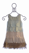 Biscotti Fancy Girls Dress Holiday Petals